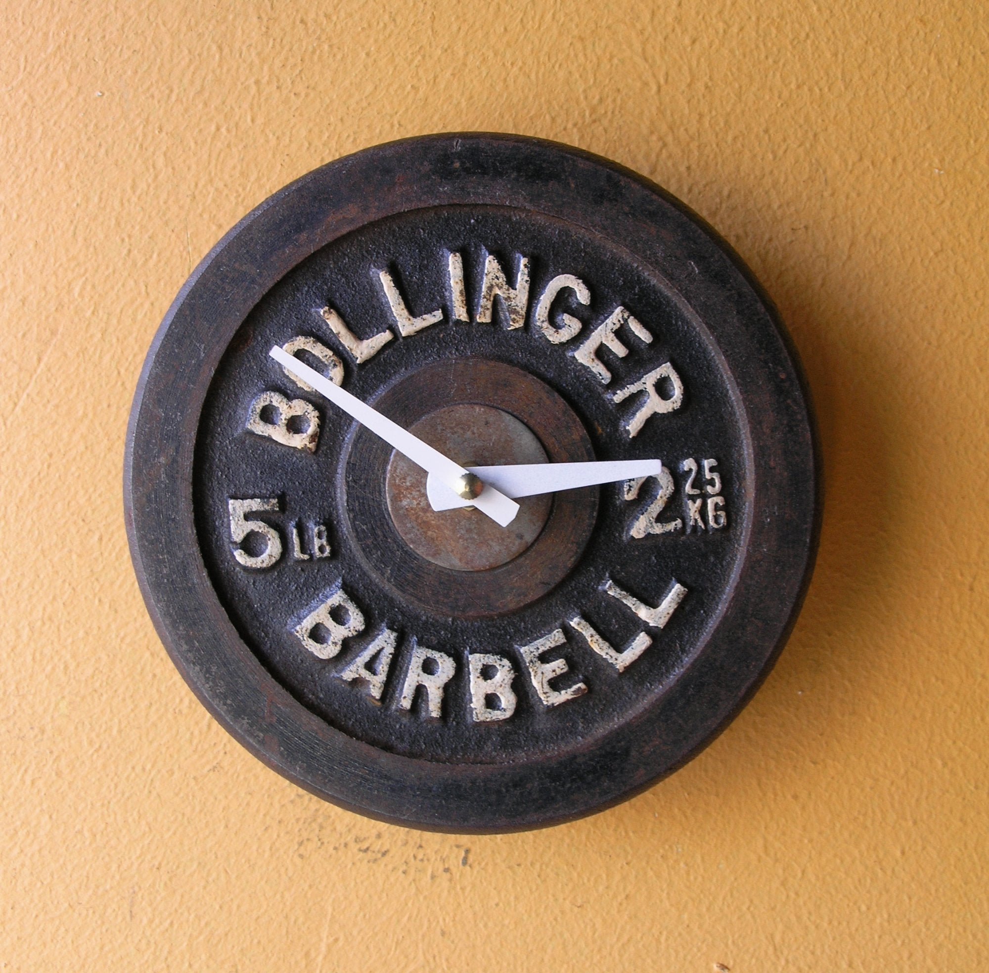 Barbell weight wall clock