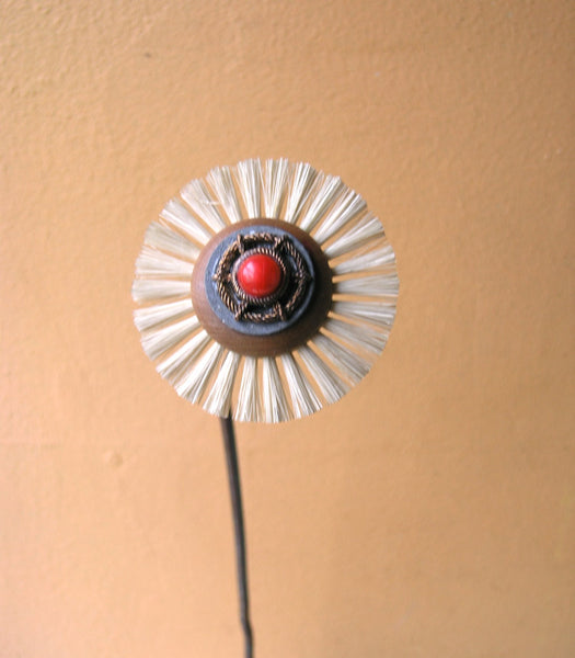 "16.5"" copper stem brush flower - PaulaArt"