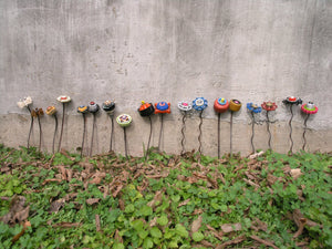 18 Wall pocket flowers SOLD - PaulaArt