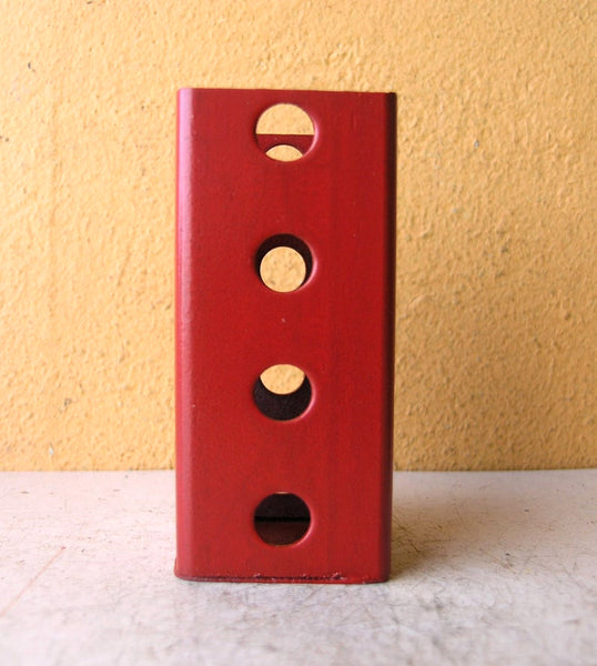 square pencil holder with holes