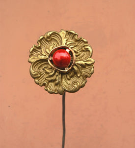 handmade recycled brass, copper and metal flower