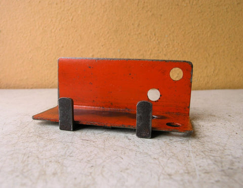 Business card holder, industrial orange office organizer