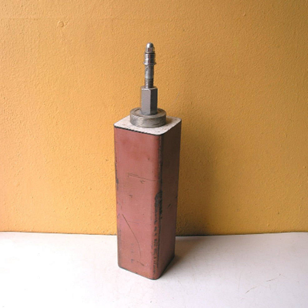 Tall matchstick box with lid from salvaged tube RESERVED LISTING - PaulaArt