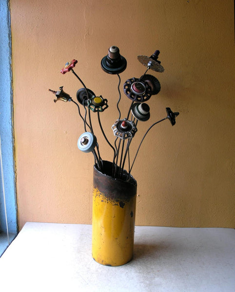 shown in one of my industrial flower vases