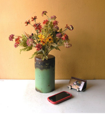 Industrial flower vase, recycled pipe