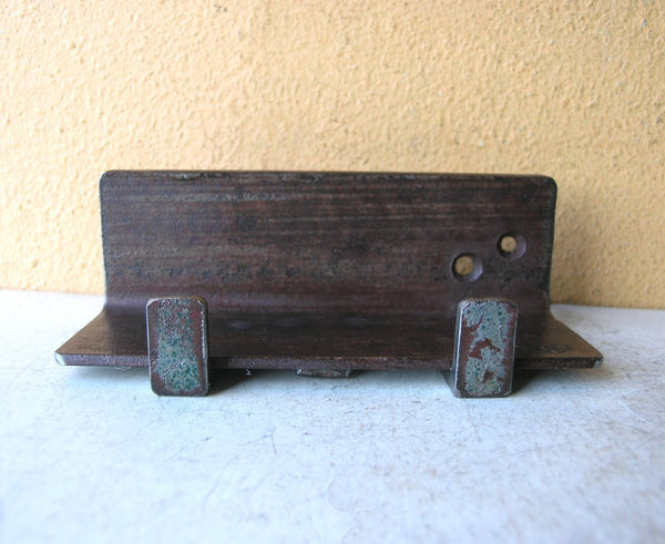 metal tablet holder from salvaged steel