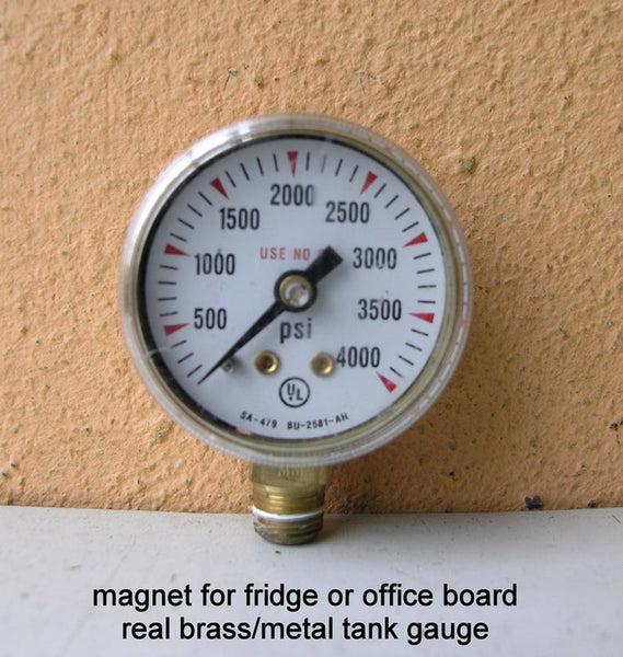 industrial magnet upcycled psi gauge