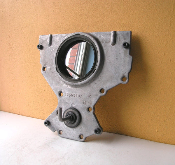 salvaged auto parts wall mirror with key hanger