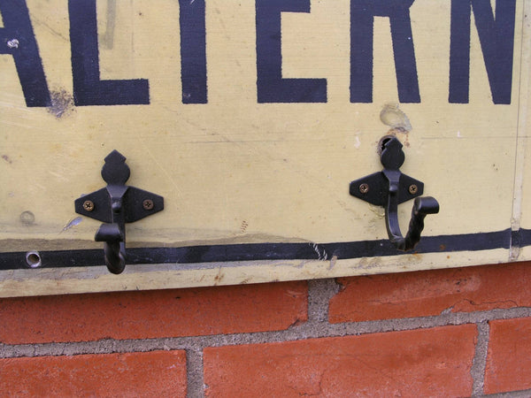 Steel street sign coat rack - PaulaArt
