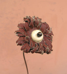 "27"" tall burgundy & white flower - PaulaArt"