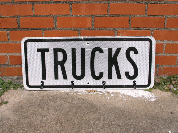 Truck Sign Coat Rack