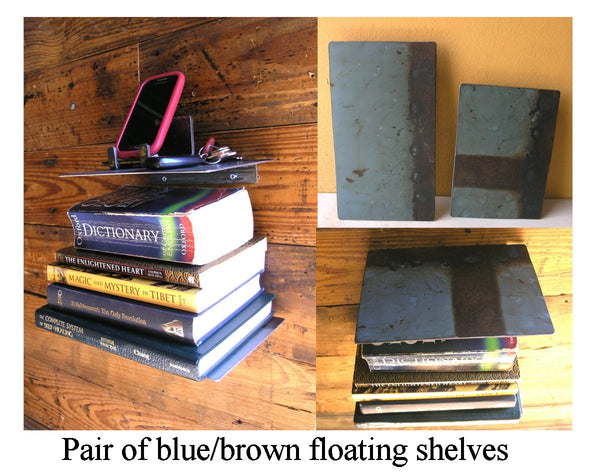 Industrial floating shelves: set of 2 - PaulaArt