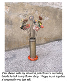 Tall flower vase for office entryway or home table centerpiece