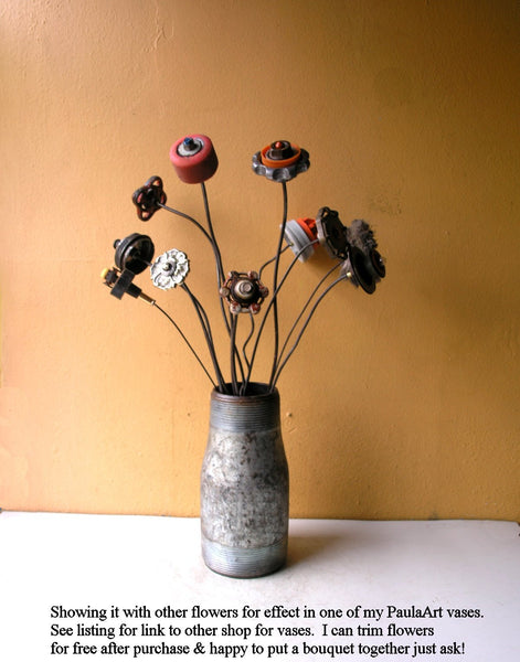 "19"" Junk auto parts flower, manly gift idea - PaulaArt"