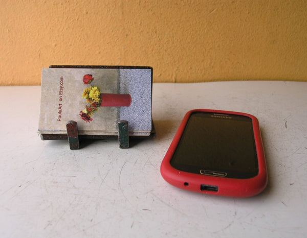 Metal Card Holder or Smarphone Stand - PaulaArt