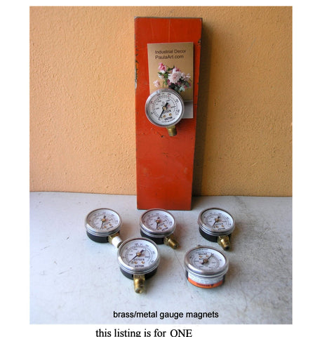 upcycled gauges turned into magnets