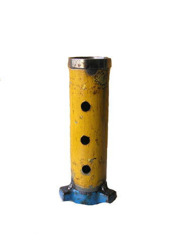 Yellow & blue industrial flower vase