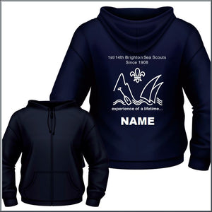 Brighton Sea Scouts Zip Hoodie - Individual Name
