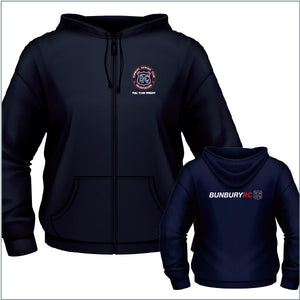 Bunbury RC Junior/Ladies Zip Hoodie