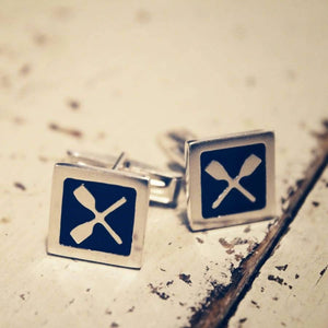 Strokeside Design Quadrato Rowing Cufflinks