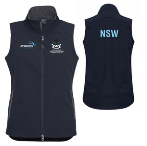 NSW Masters State Team Softshell Vest Women