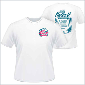 NV Beach Netball Tee Men