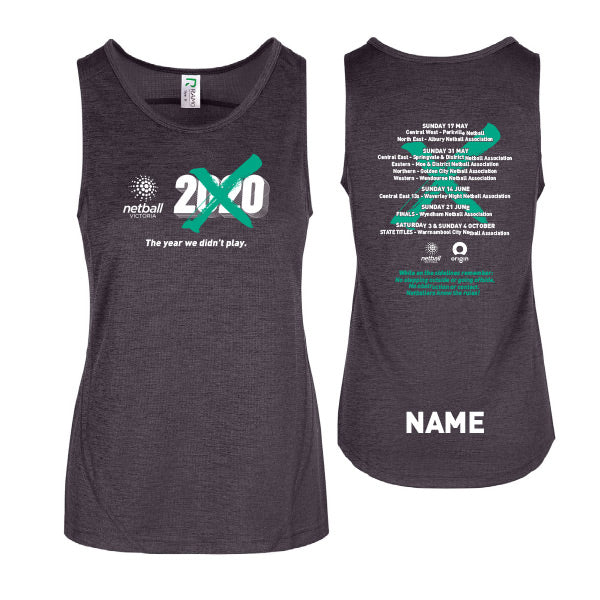 NV Gap Year 2020 Womens Training Singlet with Custom Name