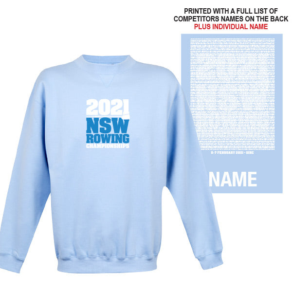 NSW Rowing Champs Windcheater with CUSTOM NAME