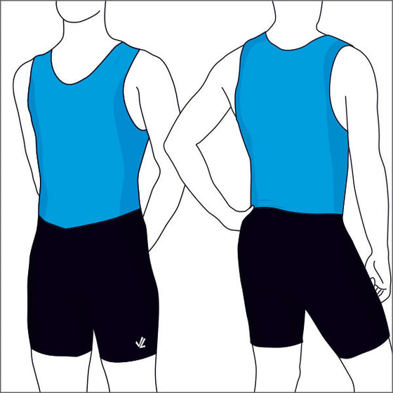 JL Academy Blue & Black Unisuit - Men