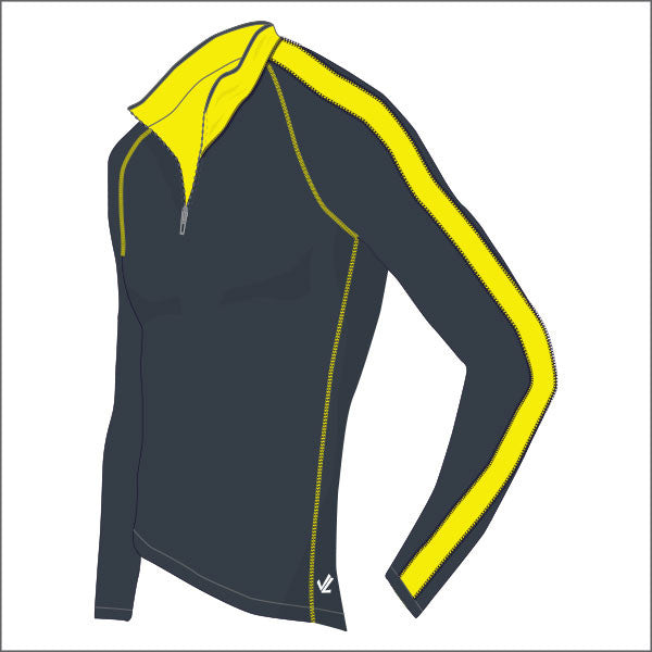 JL Ziptech Tech Shirt - Carbon / Fluro Yellow
