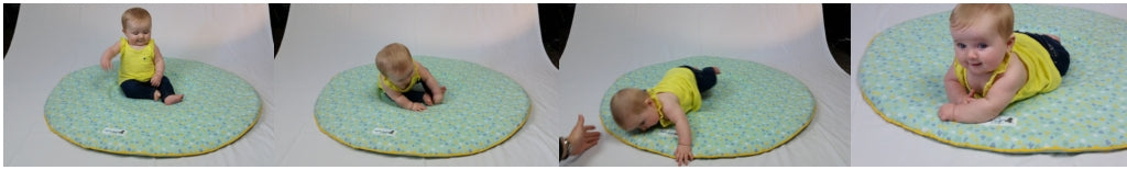 Tipsy Baby Sitting Mat fall over