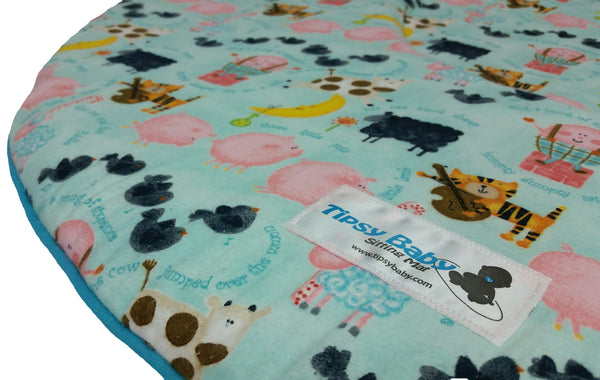 Tipsy Baby Sitting Mat / Play Mat - Nursery Rhymes - 110515 Baby Mat, Play Mat