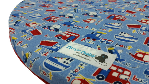 Tipsy Baby Sitting Mat / Play Mat - Trains, Planes, and Automobiles - 110216 Baby Mat, Play Mat