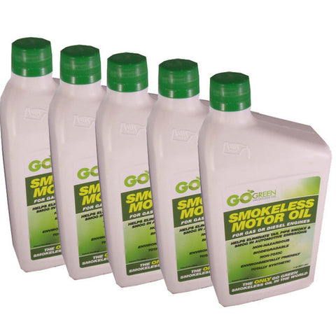 Go Green Smokeless Motor Oil 12 x 947ml. Bulk Purchase - Best for Motor Dealers.