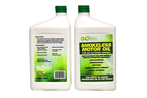 Go Green Smokeless Motor Oil - 5 x 947ml. Best buy for your vehicles next oil change.
