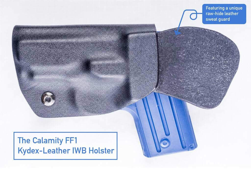 The Calamity FF1 IWB Kydex-Leather Holster by OUTBAGS USA