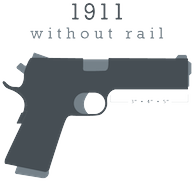 Gray logo for 1911 firearms without rails