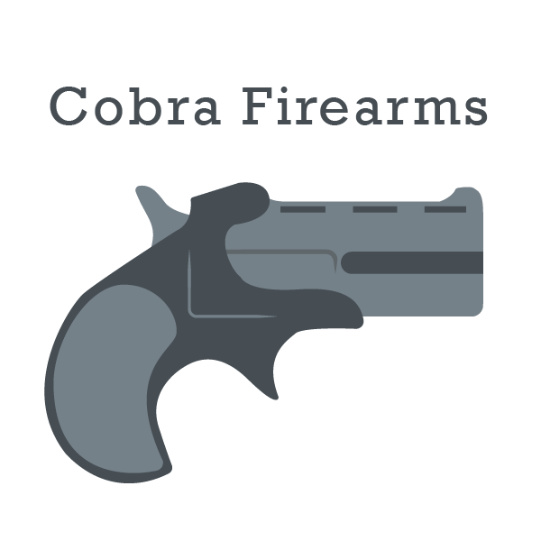 Cobra Firearms logo in gray