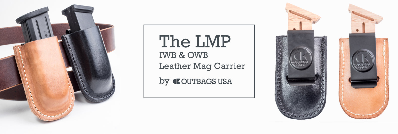 Outbags USA leather magazine pouch