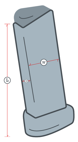 Drawing of a gun magazine