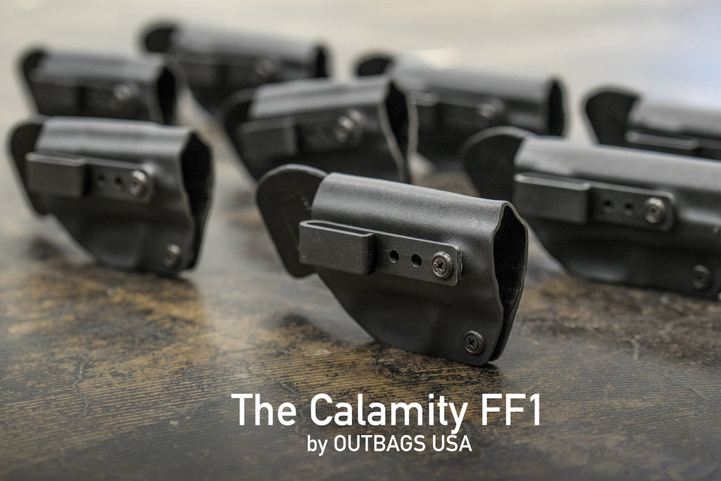 The Calamity FF1 Kydex-Leather Holster by OUTBAGS USA
