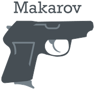 Makarov logo in gray