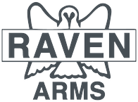 Gray logo for Raven Arms pistols