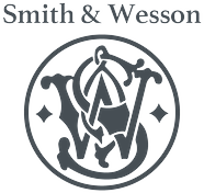 Smith & Wesson logo in gray