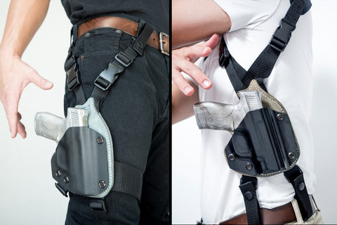 Calamity SQ1· Modular Kydex-Leather Hybrid Holster · Shoulder & Drop Leg Kit
