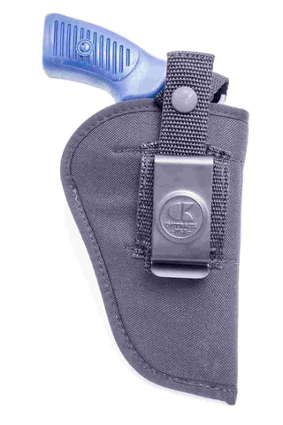 "NL08 · Nylon IWB & OWB Combo Holster · For most 2.5-3"" 6-shot revolvers"