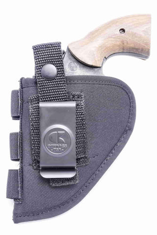 "NSC07 · Nylon OWB Holster with Ammo Loops · For most 2"" 6-shot revolvers"