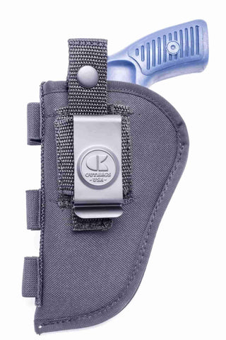"NSC08 · Nylon OWB Holster with Ammo Loops · For most 2.5-3"" 6-shot revolvers"