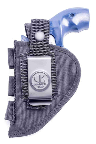 "NSC15 · Nylon OWB Holster with Ammo Loops · For most 2"" 5-shot small frame revolvers"