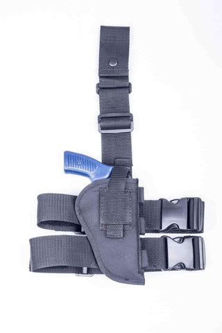 "NTAC09 · Nylon Thigh Holster with Ammo Loops · For most 4"" 6-shot revolvers"